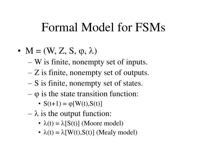 Formal Model for FSMs