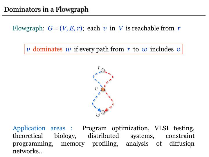 Dominators in a Flowgraph
