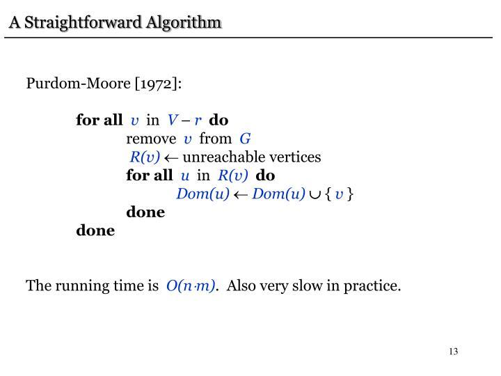 A Straightforward Algorithm