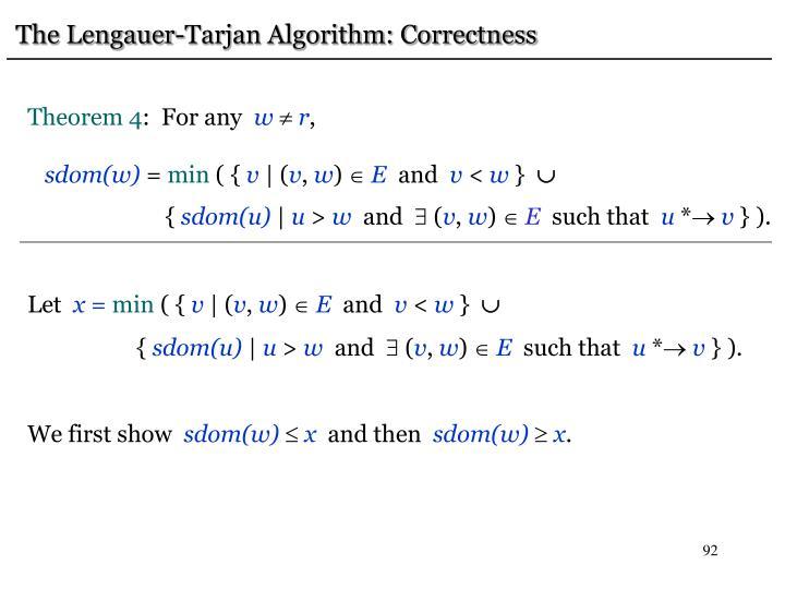 The Lengauer-Tarjan Algorithm: Correctness