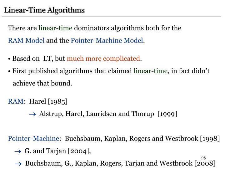 Linear-Time Algorithms