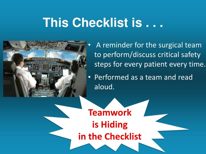 This Checklist is . . .