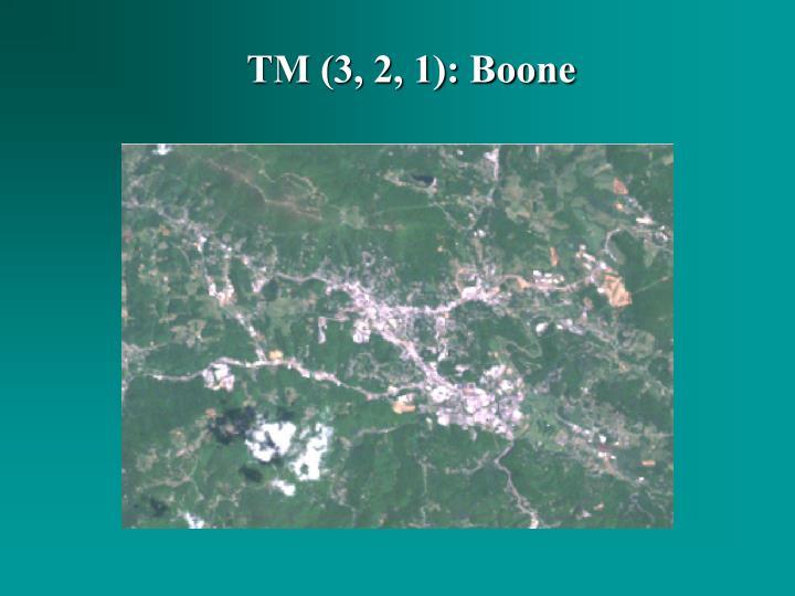 TM (3, 2, 1): Boone