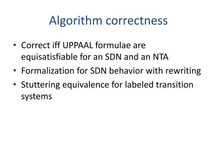 Algorithm correctness