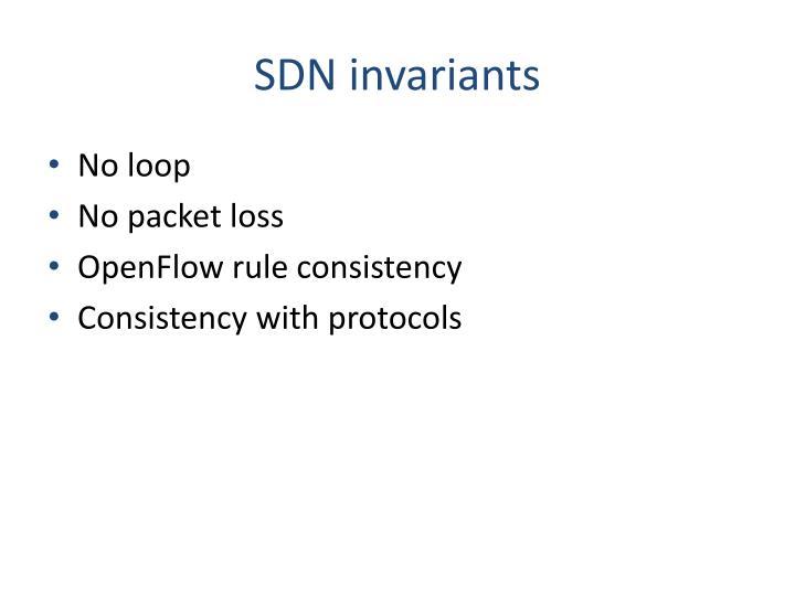 SDN invariants