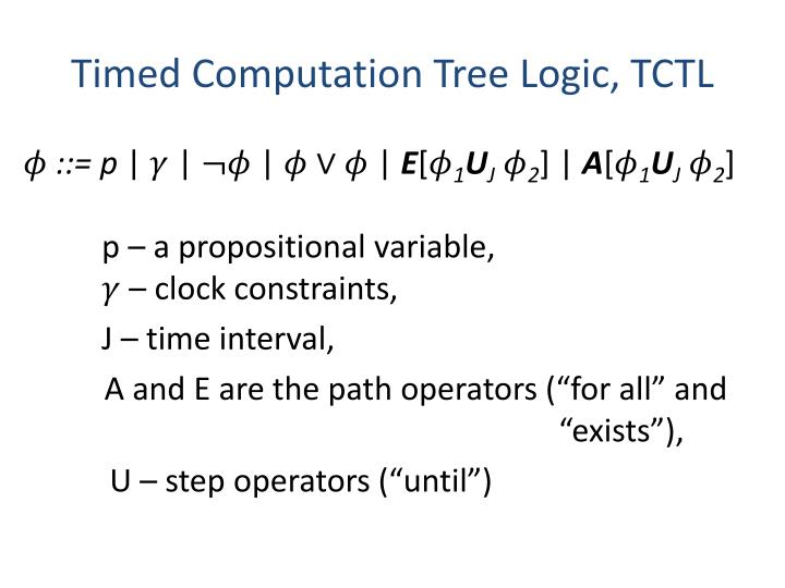 Timed Computation Tree Logic