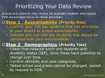 prioritizing your data review