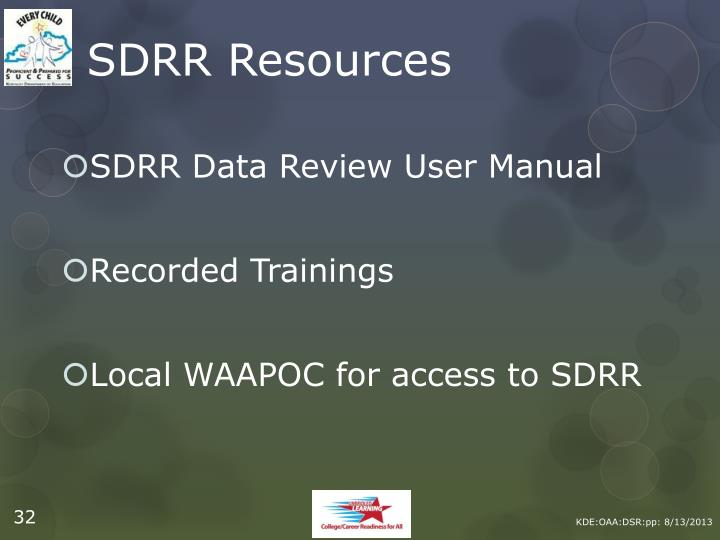 SDRR Resources