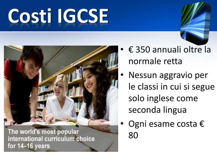 Costi IGCSE
