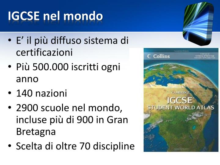 IGCSE nel mondo