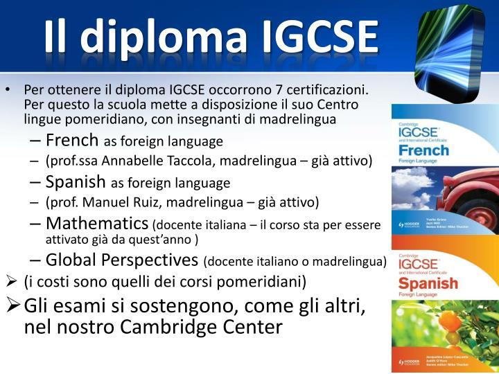 Il diploma IGCSE
