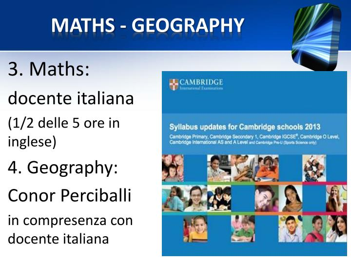 MATHS - GEOGRAPHY