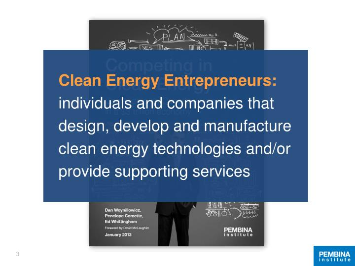 Clean Energy Entrepreneurs:
