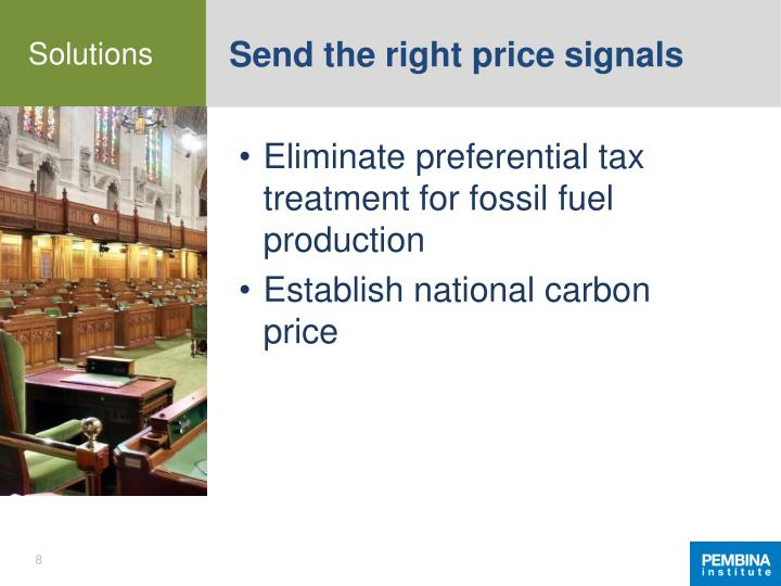 Send the right price signals