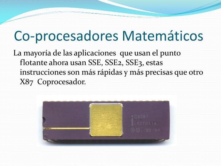 Co-procesadores Matemáticos