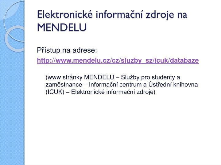 Elektronické informační
