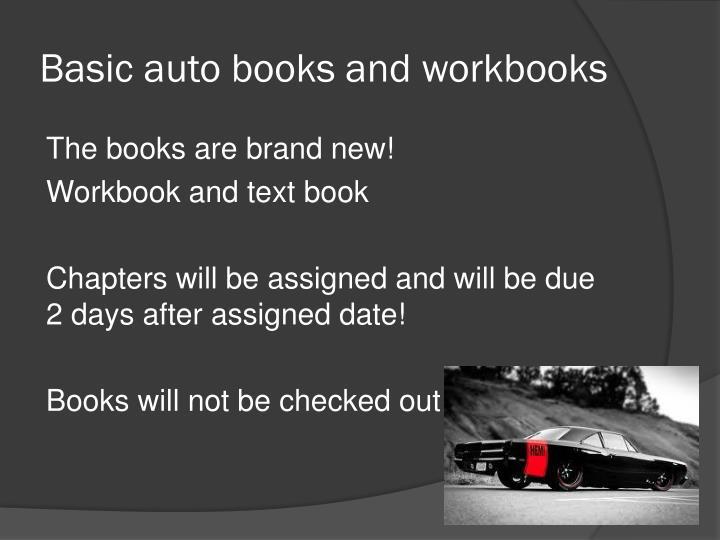 Basic auto books and workbooks