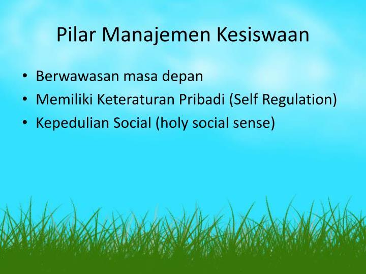Pilar Manajemen Kesiswaan