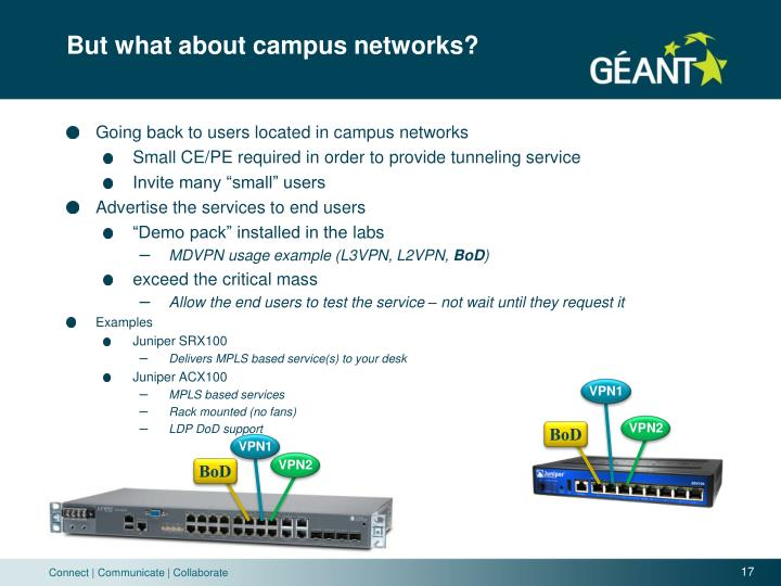 But what about campus networks?