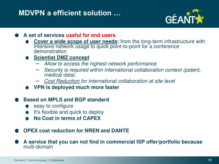 MDVPN a efficient solution …