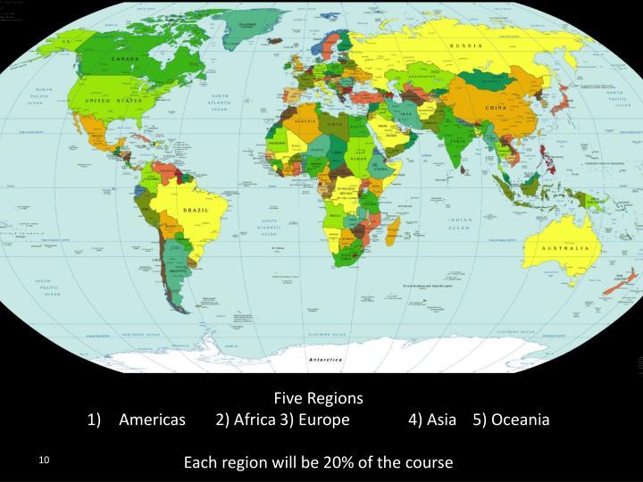 Five Regions