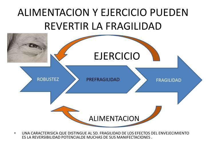 ALIMENTACION Y EJERCICIO PUEDEN REVERTIR LA FRAGILIDAD