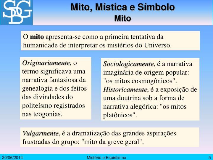 Mito, Mística e Símbolo