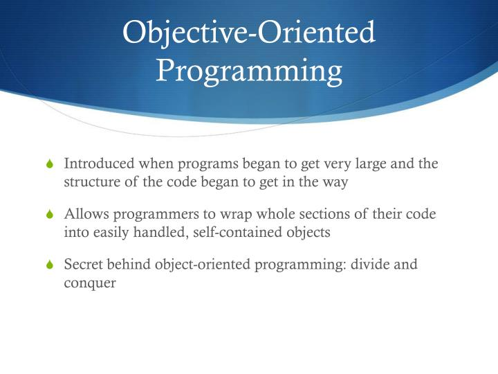 Objective-Oriented Programming