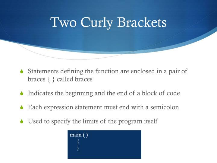 Two Curly Brackets