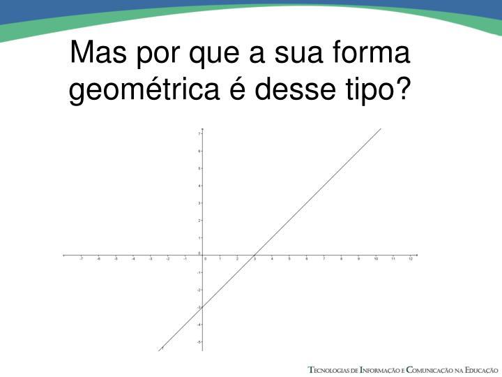 Mas por que a sua forma geométrica é desse tipo?