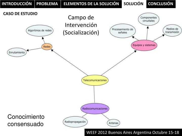 Campo de Intervención (Socialización)