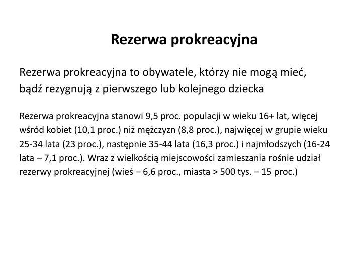 Rezerwa prokreacyjna