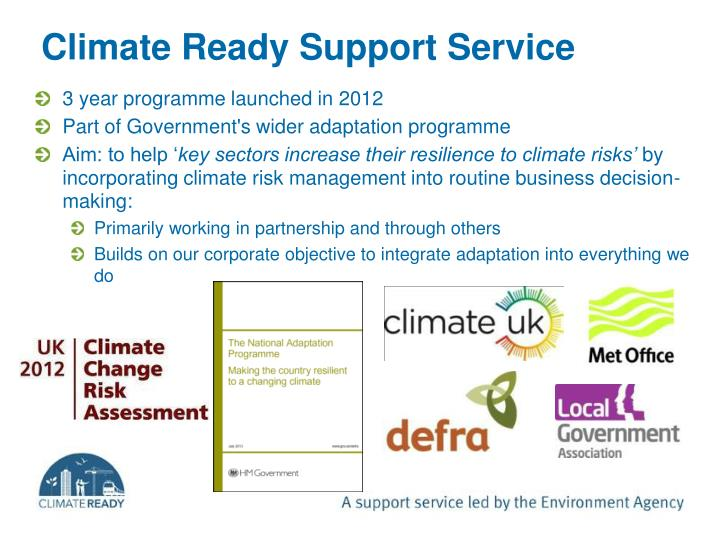 Climate Ready Support Service