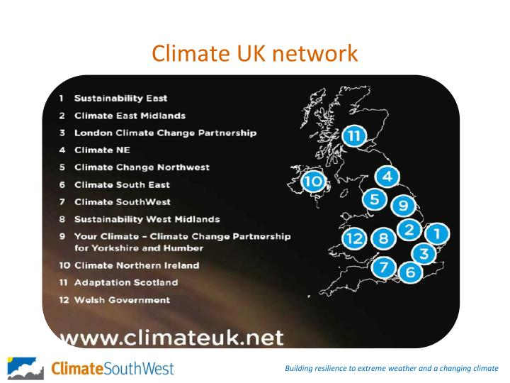 Climate UK network