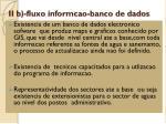 ii b fluxo informcao banco de dados
