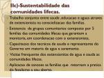 iic sustentabilidade das comunidades lifecas