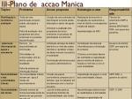 iii plano de accao manica