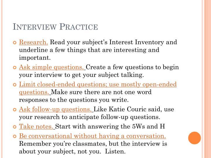 Interview Practice