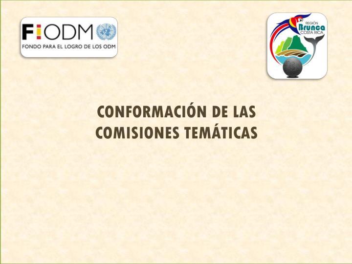 CONFORMACIÓN DE LAS