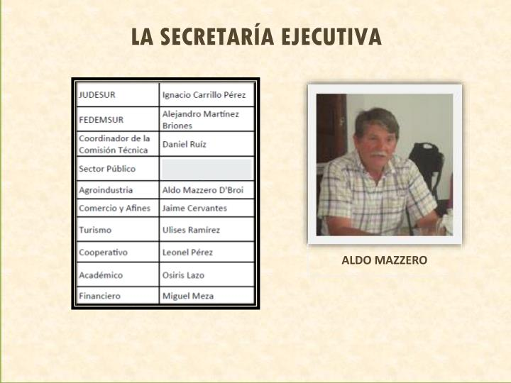 LA SECRETARÍA EJECUTIVA