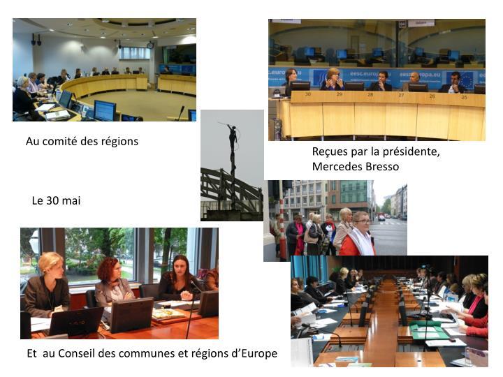 Au comité des régions