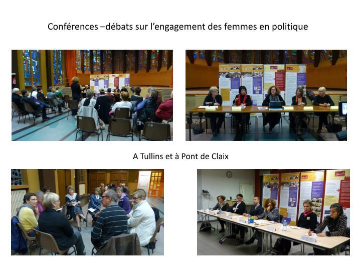 Conférences –débats sur l'engagement des femmes en politique