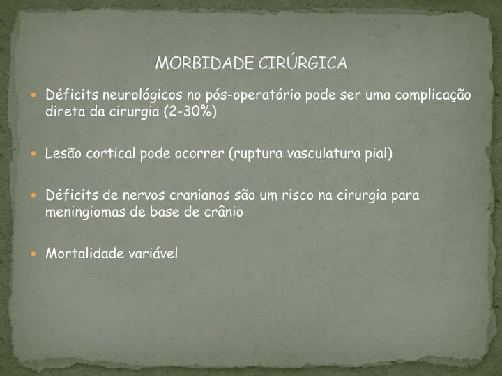 MORBIDADE CIRÚRGICA