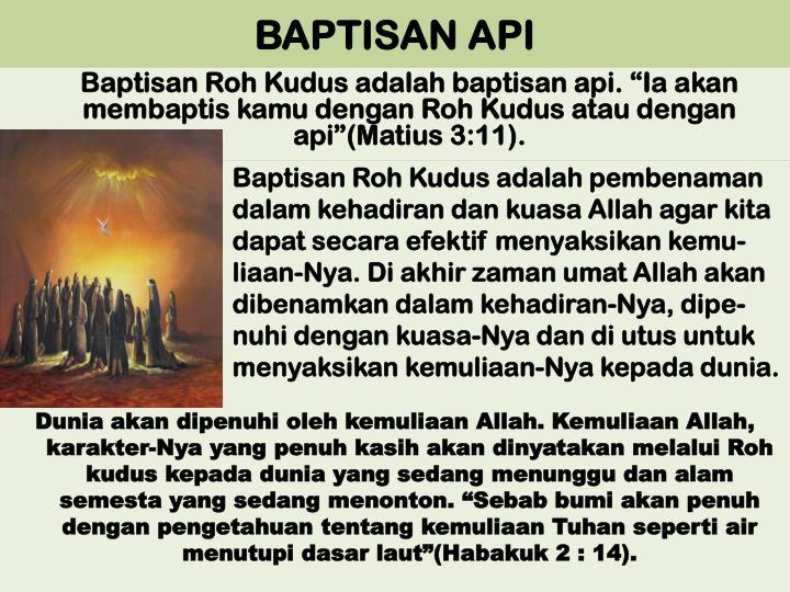 BAPTISAN API