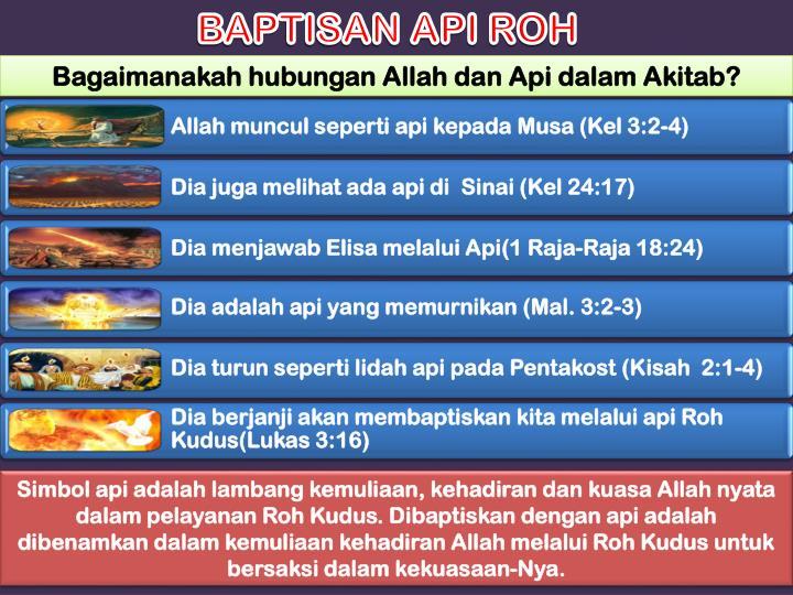 BAPTISAN API ROH