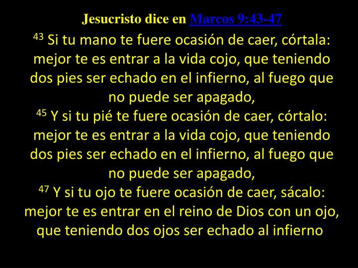 Jesucristo dice en