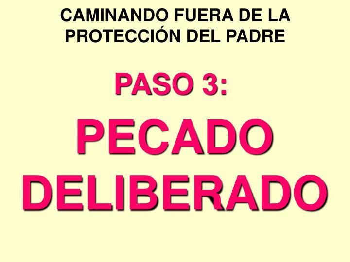 CAMINANDO FUERA DE LA PROTECCIÓN DEL PADRE