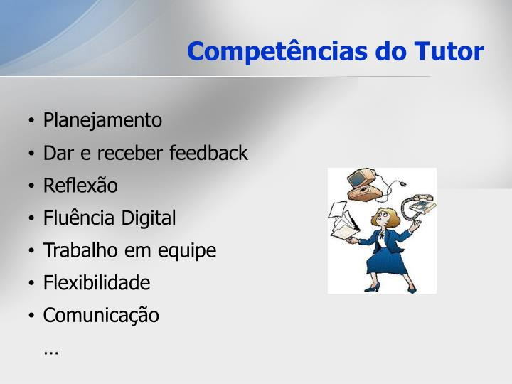 Competências do Tutor
