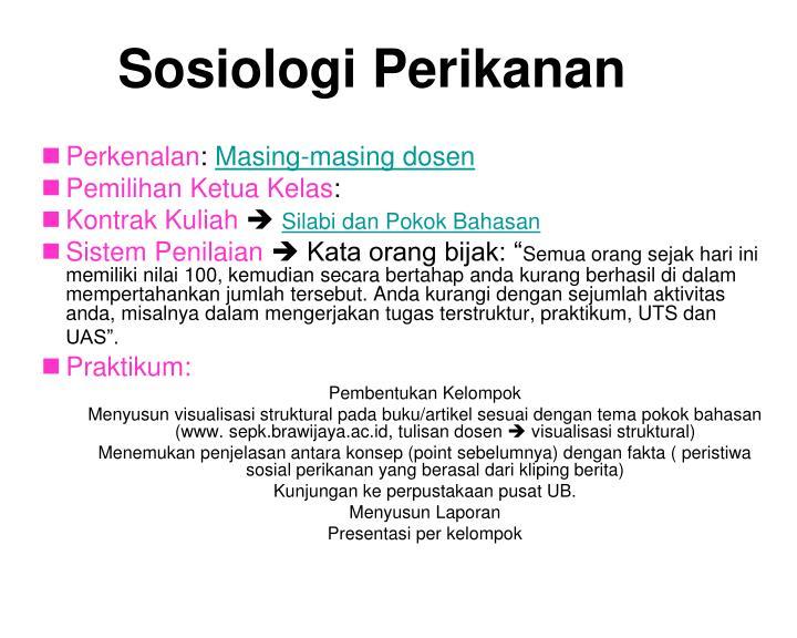 Sosiologi Perikanan