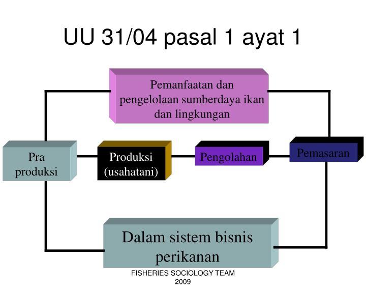 UU 31/04 pasal 1 ayat 1